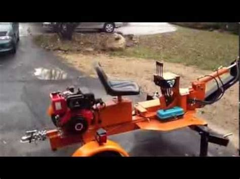 harbor freight trencher converted  electric backhoe  doovi