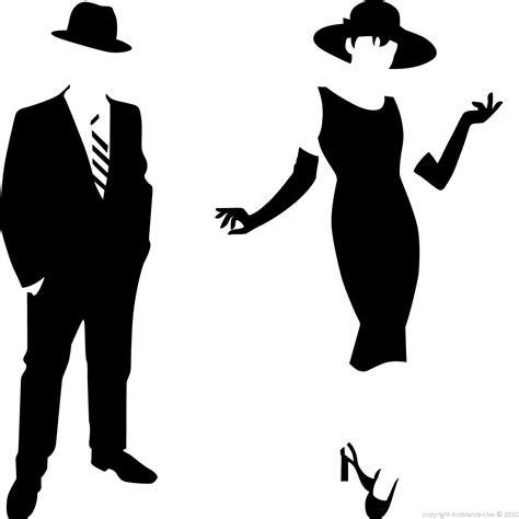 sticker chambre fille sticker silhouette homme et femme élégant stickers