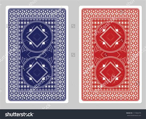 playing card  designs stock vector