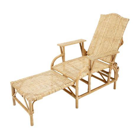 chaise longue rotin chaise longue en rotin l 149 cm séville maisons du monde