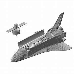 1/144 Space Shuttle w/Cargo Bay & Satellite - www ...