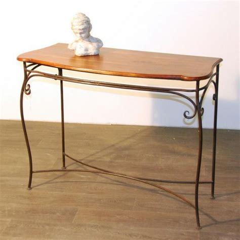 console palissandre et fer forg 233 longueur 110 cm mobilier decotaime fr