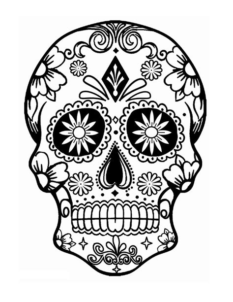 Drawing Skulls Roses Coloring Pages Drawing Best Free