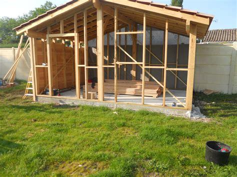 fabrication d un bureau en bois emejing abri de jardin ossature bois photos matkin info