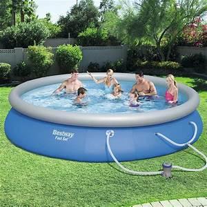 Bestway Pool Set : bestway 15 ft round 33 in deep fast set swimming pool set 57315e the home depot ~ Eleganceandgraceweddings.com Haus und Dekorationen