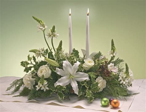 white christmas flower centerpiece delivery white