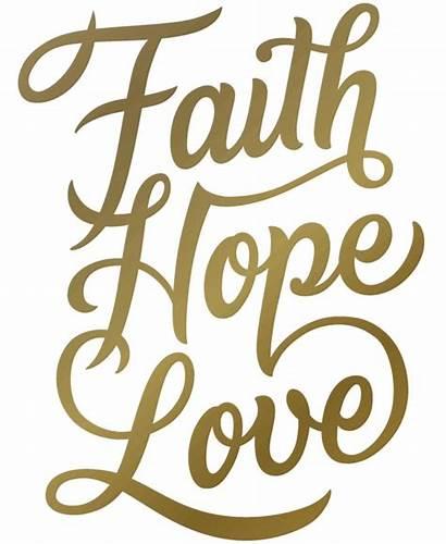 Faith Hope Decals Christmas Wood Silhouette Burning