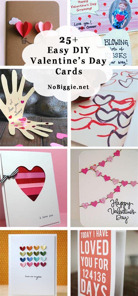 25+ Easy Diy Valentine's Day Cards  Nobiggie