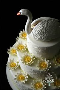Swan Lake Wedding Cake - CakeCentral com