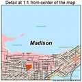 Madison Wisconsin Street Map 5548000
