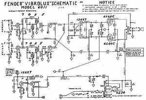 Fender Vibrolux 6g11 Schem Service Manual Download  Schematics  Eeprom  Repair Info For
