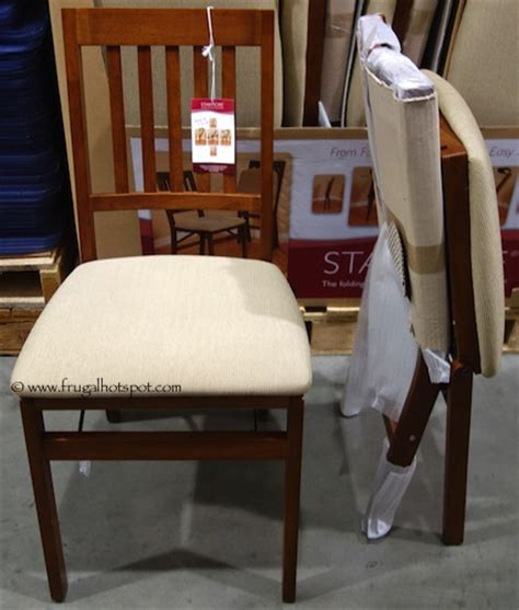 costco sale stakmore solid wood folding chair 24 99