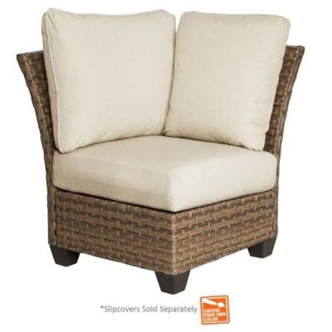 hton bay tobago corner patio sectional chair with