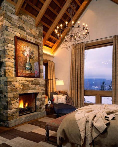 ambiance chalet de montagne l esprit montagne refl 233 t 233 dans une chambre rustique design feria