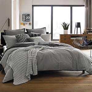 kenneth cole reaction home oxford comforter in grey stripe bed bath beyond