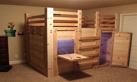 fort beds for boys queen loft bed fort plans cabin bed