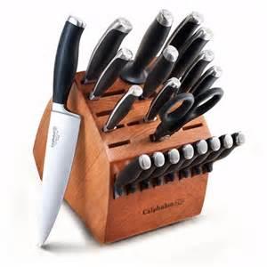 calphalon kitchen knives calphalon contemporary 21 kitchen knife block set at hayneedle