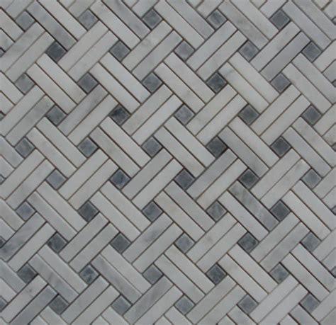basket weave carrara tile slant basket weave mosaic white carrara marble with grey dot polshed tile from classic tile