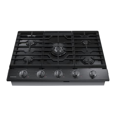 stainless steel gas cooktop samsung 30 in gas cooktop in black stainless steel with 5