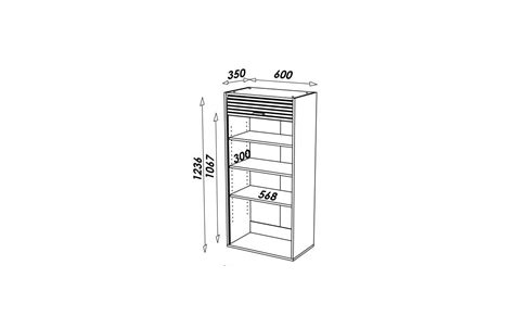 meuble cuisine 60 cm de large rangement de cuisine aluminium avec rideau déroulant