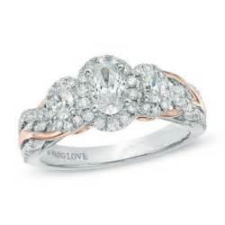 vera wang love collection 1 ct tw oval diamond three With vera wang wedding rings love collection