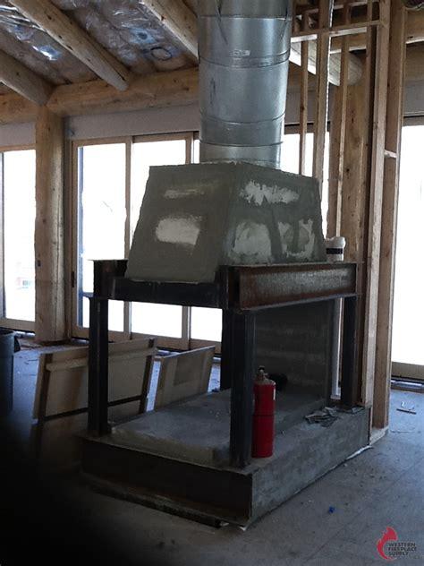 sided fireplaces mason lite  masonry fireplace