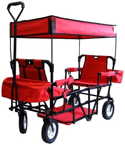 wagon with canopy seat 2 seater folding wagon with canopy