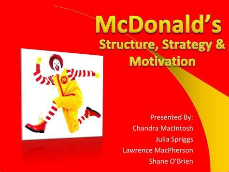mcdonalds powerpoint
