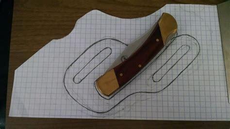 st pancake knife sheath  design profile gun