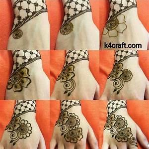 Easy Henna Mehndi Design - Step by step - Step by step Ideas
