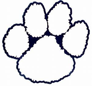 tiger outlines coloring pages With tiger paw template