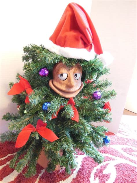 talking xmas tree telco motionette 24 quot animated singing talking tree everett green other