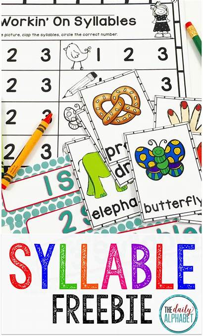Syllables Kindergarten Preschool Reading Center Word Literacy
