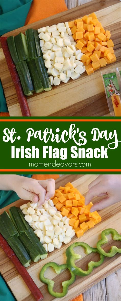irish flag st s day snack idea