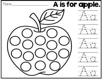 beginning sounds alphabet dot printables  abc picture