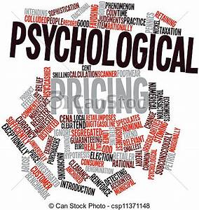Abstract word cloud for psychological pricing with related ...