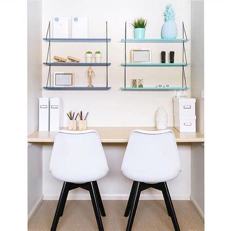 etagere de bureau rangement de bureau déco des étagères colorées
