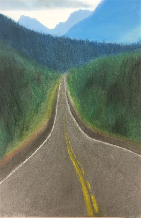 atmospheric  linear perspective nvaa student work
