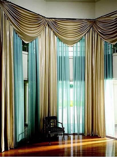 Drapes Elegant Curtain Draperies Styles Valances Curtains