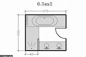 Salle De Bain 5m2 : 18 plans de salle de bains de 5 11 m d couvrez nos ~ Dailycaller-alerts.com Idées de Décoration