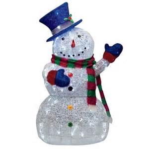 48 quot led lighted sugar thread snowman lights outdoor yard decoration ebay