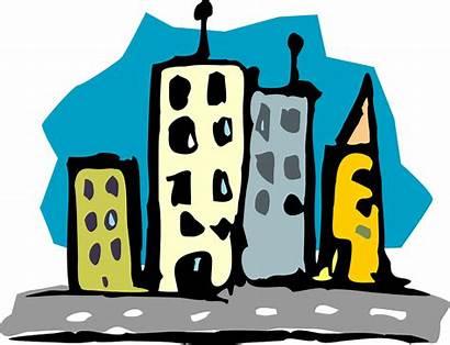 Buildings Skyscrapers Road Clip Local Law Cartoon