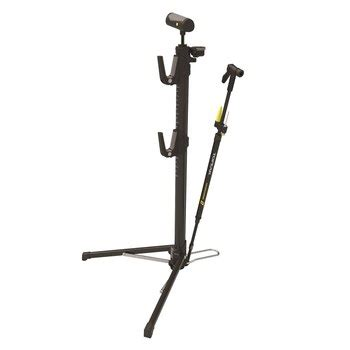 Floor And Stand Combo by Topeak Transformer Rx Portable Bike Stand Floor Combo