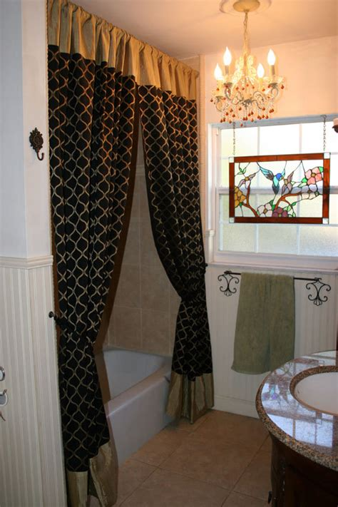 gold and black curtains