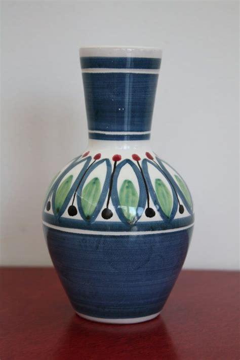 vintage  norwegian elle ceramic vase folk art