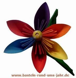 Blumen Basteln Kinder : bunte blume aus papier basteln basteln rund ums jahr ~ Frokenaadalensverden.com Haus und Dekorationen
