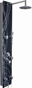 Handtuchheizkörper Elektrisch Test : schwarzes design glas duschpaneel mit weissen verzierungen xxl duschkopf ~ Frokenaadalensverden.com Haus und Dekorationen