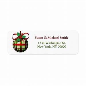 christmas card address labels christmas ornament zazzle With christmas card address labels