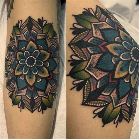 colorful mandala tattoo ideas  pinterest