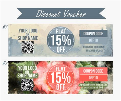 coupon voucher design templates psd ai indesign